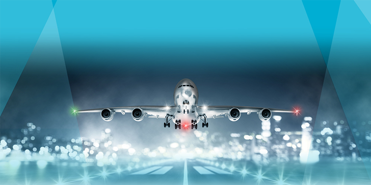 Abrasion Resistant Glass Lenses for Exterior Aircraft Lighting