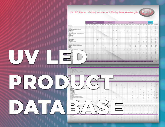 UV LED Product Database