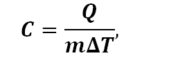 Specific Heat Equation