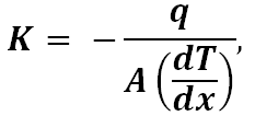 Thermal Conductivity equation